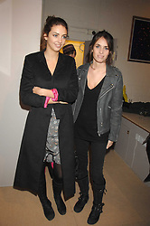Left to right, sisters ROSE HANBURY and MARINA HANBURY at a private view of work by Tarka Cordell and Piers jackson held at the Barney Cordell Gallery, 90 Lots Road, London SW10 on 11th December 2007.<br /><br />NON EXCLUSIVE - WORLD RIGHTS