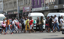 South Africa - Durban - 07 July 2020 - As new Covid - 19 new cases continue soaring up, and Durban being one of the epicentres, people in Durban are living their lives normally in the City centre. Scores of people continue ignoring simple rules like social distancing when in the CBD as they all rush to their destinations<br /> Picture: Doctor Ngcobo/African News Agency(ANA)