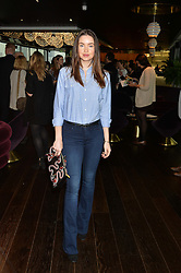 EMMA MILLER at the mothers2mothers World AIDS Day VIP Lunch with Next Management & THE OUTNET.COM held at Mondrian London, 19 Upper Ground, London on 1st December 2014.