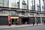 Entrance to Bar Rumba in London, United Kingdom. Bar Rumba on Shaftesbury Avenue, is a basement nightclub and party bar in the West End, with a long history.