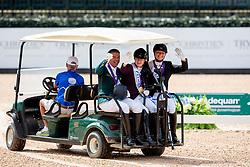 Voets Sanne, Rodolpho Riskalla, Susanne Jensby Sunesen, <br /> World Equestrian Games - Tryon 2018<br /> © Hippo Foto - Sharon Vandeput<br /> 18/09/2018
