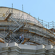 Smithsonian National Museum of Natural History Renovations Scaffolding. Scaffolding on the exterior of the central dome of the Smithsonian's National Museum of Natural History on Washington DC's National Mall as of July 2012.