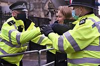 anti lockdown and anti vax protest Parliament Square london photo by <br /> Krisztian Elek