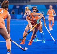 TOKIO -  Margot Van Geffen (NED)  tijdens de wedstrijd dames , Nederland-India (5-1) tijdens de Olympische Spelen   .   COPYRIGHT KOEN SUYK