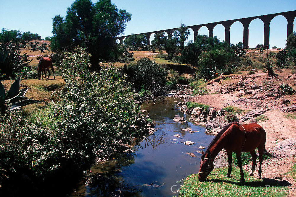 MEXICO, CENTRAL, HIDALGO STATE 16thC Aqueduct known as Los Arcos del Padre  Tembleque, 1k. long, 35mt.s high near  Zempoala south of Pachuca