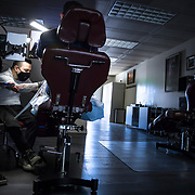 The owner of a Los Angeles tattoo studio, listed by the city as a non-essential business, was working in the dark behind closed doors on May 5 in violation of the city's Safer At Home ordert issued over six weeks earlier on March 19. His income was down 50% and he said he'd be in terrible shape if he stopped working and would have to try to sell artwork instead. He said he applied for the PPP money but never received anything.