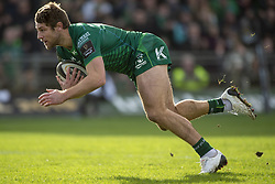 March 2, 2019 - Galway, Ireland - Kyle Godwin of Connacht in action during the Guinness PRO 14 match  between Connacht Rugby and Ospreys at the Sportsground in Galway, Ireland on March 2, 2019  (Credit Image: © Andrew Surma/NurPhoto via ZUMA Press)