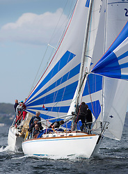 RWYC's Savills Kip Regatta  9-10th May 2015 <br /> Excellent conditions for the opening racing of the Clyde Season<br /> <br /> Class 4 leader, GBR2496, Valhalla of Ashton, Alan L Dunnet<br /> <br /> Credit : Marc Turner / PFM