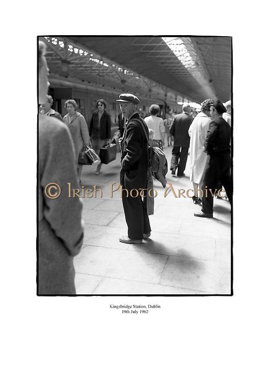 Kingsbridge Station, Dublin (now Heuston).<br /> <br /> 19th July 1962<br /> <br /> 19/07/1962