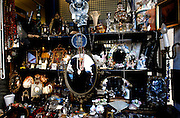 PMM030109#London Markets_Portobello Road Market. Portobello Market is typical touristic known for the antiques sellers, but also the place for vintage shops with vintage designer pieces.