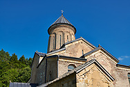 Pictures and images of St Nicholas Church in the historic medieval Kintsvisi Monastery Georgian Orthodox Monastery complex, Shida Kartli Region, Georgia (country).<br /> <br /> Kintsvisi Monastery is the best preserved example of Georgian architecture of the 12th and 15th centuries, the so called Georgian Golden Age. .<br /> <br /> Visit our MEDIEVAL PHOTO COLLECTIONS for more   photos  to download or buy as prints https://funkystock.photoshelter.com/gallery-collection/Medieval-Middle-Ages-Historic-Places-Arcaeological-Sites-Pictures-Images-of/C0000B5ZA54_WD0s<br /> <br /> Visit our REPUBLIC of GEORGIA HISTORIC PLACES PHOTO COLLECTIONS for more photos to browse, download or buy as wall art prints https://funkystock.photoshelter.com/gallery-collection/Pictures-Images-of-Georgia-Country-Historic-Landmark-Places-Museum-Antiquities/C0000c1oD9eVkh9c