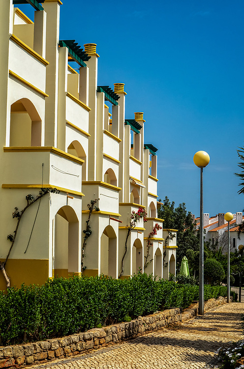 A street in Mogado Nora Velha, Tavira, Portugal