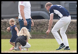 June 11, 2017 - Westonbirt, United Kingdom - Image licensed to i-Images Picture Agency. 11/06/2017. Westonbirt, United Kingdom. The Duke of Cambridge chases  Mia Tindall at the Gloucestershire Festival of Polo at Beaufort Polo Club in Westonbirt, Gloucestershire, United Kingdom. Picture by Stephen Lock / i-Images (Credit Image: © Stephen Lock/i-Images via ZUMA Press)