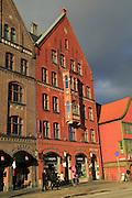 Historic Hanseatic League buildings Bryggen area, Bergen, Norway UNESCO World Cultural Heritage site