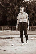 President Jimmy Carter plays softball in Plains, Georgia