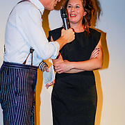 NLD/Amsterdam/20131014 -  Marie Claire Starters Award 2013, Jort Kelder en  in gesprek met genomineerde Sanne Tummers - Single&Stijl