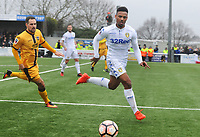 Football - 2016 / 2017 FA Cup - Fourth Round: Sutton United vs. Leeds United<br /> <br /> Tyler Denton of Leeds and Dan Spence of Sutton at Gander Green Lane.<br /> <br /> COLORSPORT/ANDREW COWIE