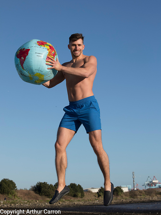 NO FEE PICTURES<br /> 15/1/20 Model Eoin Costello get summer ready at a photocall for the Holiday World Show's 30th Anniversary show, showcasing some wonderful holiday opportunities in the RDS Simmonscourt from 24th-26th January 2020. Picture: Arthur Carron.