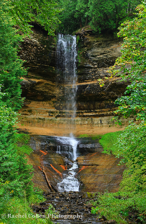 """""""Munising Falls""""<br /> <br /> A beautiful view of scenic Munising Falls, located near Pictured Rocks National Lake Shore in Michigan's Upper Peninsula!!<br /> <br /> Waterfalls by Rachel Cohen"""