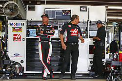 September 22, 2017 - Loudon, New Hampshire, United States of America - September 22, 2017 - Loudon, New Hampshire, USA: Clint Bowyer (14) hangs out in the garage during practice for the ISM Connect 300 at New Hampshire Motor Speedway in Loudon, New Hampshire. (Credit Image: © Justin R. Noe Asp Inc/ASP via ZUMA Wire)