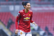 Manchester United Women forward Christen Press (24) gestures and reacts during the FA Women's Super League match between Manchester United Women and Arsenal Women FC at Leigh Sports Village, Leigh, United Kingdom on 8 November 2020.