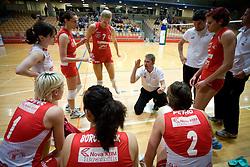 Coach of Nova KBM Bruno Najdic at 1st match of finals of 1st DOL women volleyball league between OK Hit Nova Gorica and OK Nova KBM Branik, Maribor played in OS Milojke Strukelj, on April 8, 2009, in Nova Gorica, Slovenia. Nova KBM Branik won 3:1. (Photo by Vid Ponikvar / Sportida)