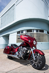 2017 Indian Chieftain Elite photographed during Daytona Bike Week. Daytona Beach, FL. USA. Friday March 10, 2017. Photography ©2017 Michael Lichter.