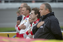 June 10, 2018 - Brooklyn, Michigan, United States of America - Ryan Blaney (12) waits for the start of the FireKeepers Casino 400 during a weather delay at Michigan International Speedway in Brooklyn, Michigan. (Credit Image: © Stephen A. Arce/ASP via ZUMA Wire)