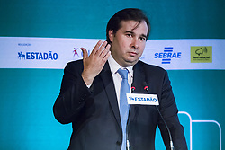 August 21, 2017 - Sao Paulo, Sao Paulo, Brazil - Aug, 2017 - Sao Paulo, Sao Paulo, Brazil - The president of the Chamber of Deputies, RODRIGO MAIA, participated on Monday in the city of São Paulo, a forum for discussion on Brazilian political reform organized by the newspaper O Estado de São Paulo  (Credit Image: © Marcelo Chello/CJPress via ZUMA Wire)