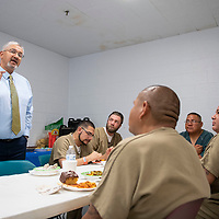 McKinley County Magistrate Judge Robert Baca speaks at a substance abuse treatment program graduation luncheon, Wednesday Oct. 3, 2018 at the McKinley County Jail.