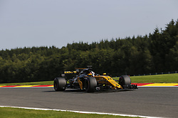 August 25, 2017 - Francorchamps, Belgium - NICO HULKENBERG of Germany and Renault Sport F1 Team drives during practice session of the 2017 Formula 1 Belgian Grand Prix in Francorchamps, Belgium. (Credit Image: © James Gasperotti via ZUMA Wire)