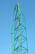 Top Roller Coaster's Of The World<br /> <br /> Arms down, head back and hold on. With only 28 seconds, the Kingda Ka may not be very long, but it's bound to leave you wide eyed and twitching. Located at Six Flags Great Adventure in New Jersey, USA, it's the tallest and fastest roller coaster in the world. The train is launched by a hydraulic launch mechanism to 128 miles per hour (206 km/h) in 3.5 seconds. At the end of the launch track, the train climbs the main top hat tower, reaching a height of 456 feet (139 meters)! At a cost of US$25 million, the Kingda Ka opened to the public on May 21, 2005, was closed several times for different technical problems and was also struck by lightning in early May 2009. <br /> (©Exclusivepix)