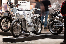 Exodus, a 1978 all-aluminum custom BMW R80 cafe racer by Dustin Kott of Kott Motors in Newhall, California on display at the Handbuilt Show. Austin, Austin USA. Sunday, April 14, 2019. Photography ©2019 Michael Lichter.