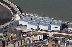 Image ©Licensed to i-Images Picture Agency. Aerials kent views.<br /> TURNER CONTEMPORARY MARGATE. Picture by i-Images
