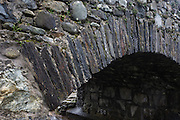 Detail of stone bridge at Kinlochspelve, Isle of Mull, Scotland.