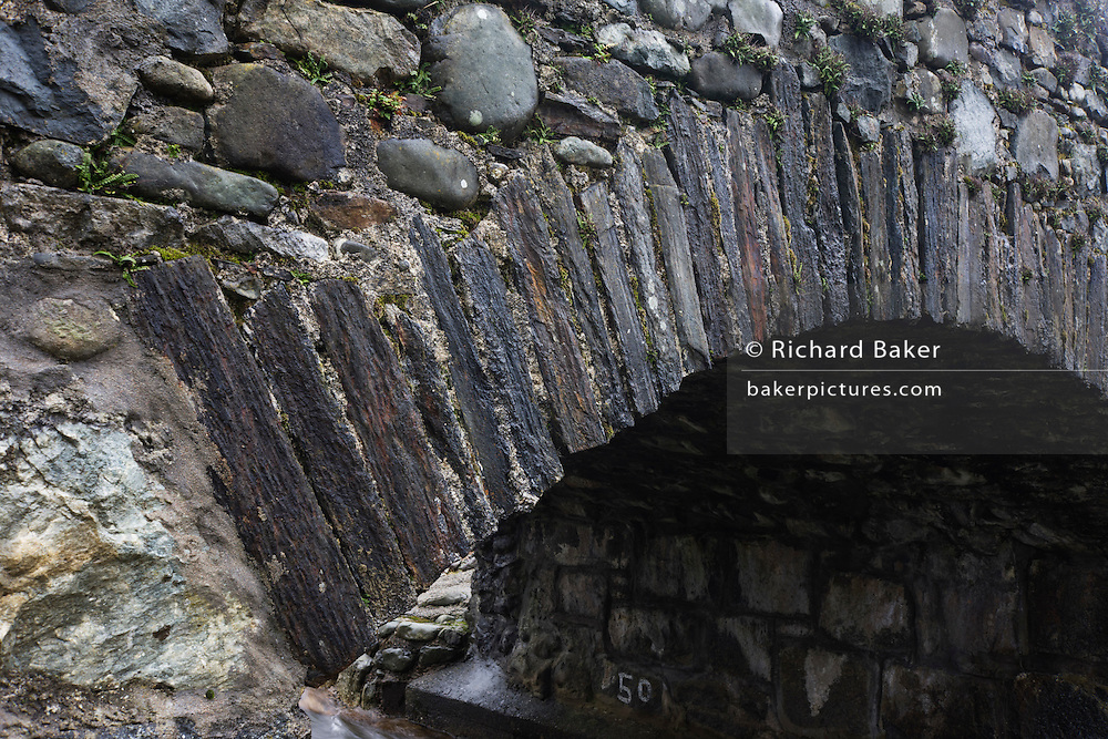 Detail of stone bridge at Kinlochspelve, Isle of Mull, Scotland.