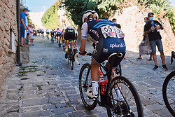 Trixi Worrack (GER) battles up the cobbled climb at the 2020 Clasica Feminas De Navarra, a 122.9 km road race starting and finishing in Pamplona, Spain on July 24, 2020. Photo by Sean Robinson/velofocus.com