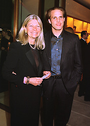 MRS BRYAN MORRISON and her son MR JAMIE MORRISON a close friend of Geri Halliwell from the Spice Girls, at a party in London on 24th February 1998.<br /> MFP 78