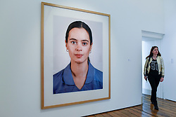 """London, UK.  17 May 2017. """"Portrait (A Zeitler)"""", 1998, by Thomas Ruff.  Preview of Photo London 2017 at Somerset House.  Held for the third time, the event showcases the best in contemporary photography, from 89 galleries from 16 different countries, for collectors and enthusiasts and will be on from 18 - 21 May. Credit: Stephen Chung / Alamy Live News"""
