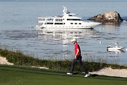 June 11, 2019 - Pebble Beach, CA, U.S. - PEBBLE BEACH, CA - JUNE 11: PGA golfer Martin Kaymer walks the 4th hole during a practice round for the 2019 US Open on June 11, 2019, at Pebble Beach Golf Links in Pebble Beach, CA. (Photo by Brian Spurlock/Icon Sportswire) (Credit Image: © Brian Spurlock/Icon SMI via ZUMA Press)