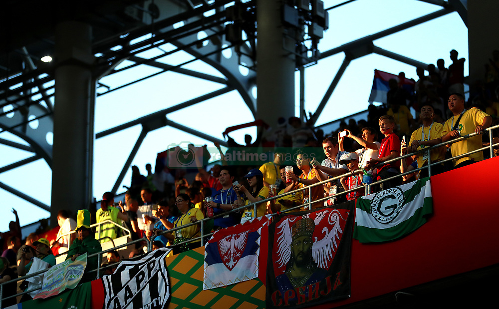 A general view of fans in the stands prior to the match