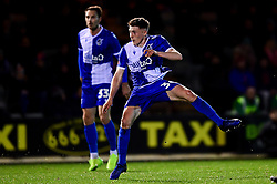 Cameron Hargreaves of Bristol Rovers has a shot on goal - Mandatory by-line: Ryan Hiscott/JMP - 17/12/2019 - FOOTBALL - Home Park - Plymouth, England - Plymouth Argyle v Bristol Rovers - Emirates FA Cup second round replay