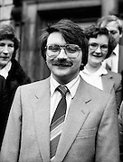 Teachta Dála – TDs – arrive for the opening session of the twenty-third Dáil. Pictured at Leinster House, Limerick City Fianna Fáil TD Willie O'Dea.<br /> 9 March 1982