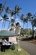 Drink stall at the Waikiki Shell ampitheater, Waikiki, Hawaii
