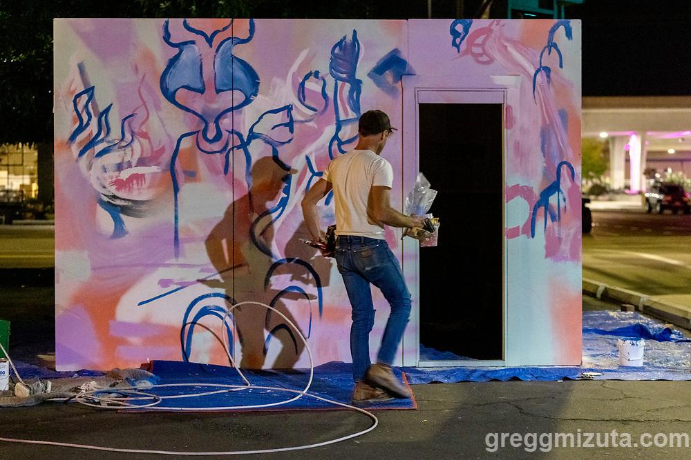Elijah Jensen Lindsey and William Lewis's Artfort project at LED in Boise, Idaho on September 22, 2021.