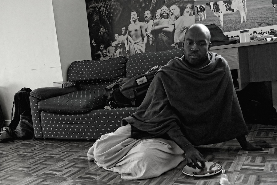Portrait of young devotee at the Hare Krishna temple in Toronto.