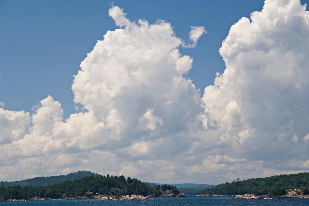 View of rugged Lake Superior shoreline from Presque Isle Park in Marquette Michigan.