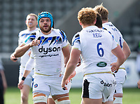 Rugby Union - 2020 / 2021 Gallagher Premiership - Round 13 - Newcastle Falcons vs Bath - Kingston Park<br /> <br /> Zach Mercer of Bath scores his teams second try to make it 10-0<br /> <br /> Credit : COLORSPORT/BRUCE WHITE