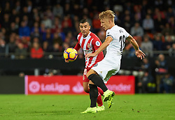 November 3, 2018 - Valencia, Valencia, Spain - Daniel Wass of Valencia CF during the La Liga match between Valencia CF and Girona FC at Mestala Stadium on November 3, 2018 in Valencia, Spain (Credit Image: © AFP7 via ZUMA Wire)