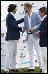 May 24, 2019 - Rome, London, Italy - Image licensed to i-Images Picture Agency. 24/05/2019. Rome, Italy. Prince Harry, The Duke of Sussex greets polo player Nacho Figueras at the 2019 Sentebale ISPS Handa Polo Cup at Rome Polo Club, Italy. (Credit Image: © Stephen Lock/i-Images via ZUMA Press)
